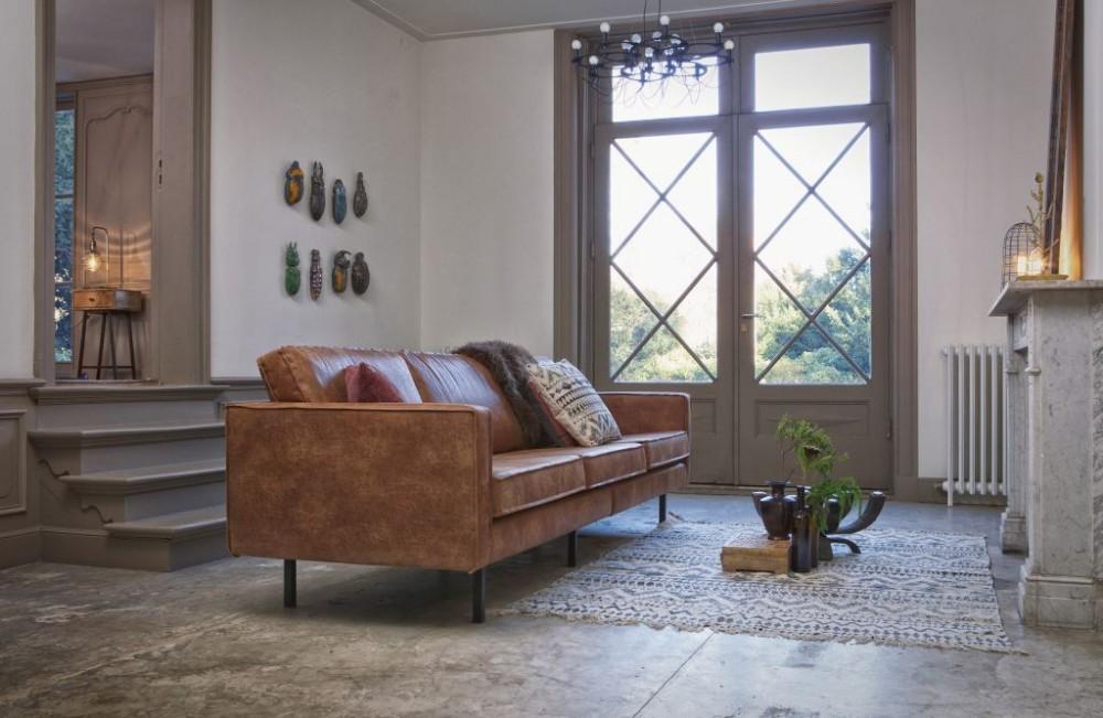 be pure home rodeo 3 seter sofa cognac bellas emne interi r interi r p nett og. Black Bedroom Furniture Sets. Home Design Ideas