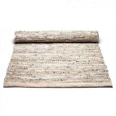 Rug Solid - Leather Rug 75x200 Beige