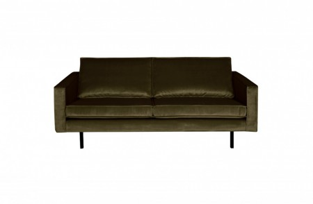 Be Pure Home - Rodeo Velvet 2,5 seter sofa - Dark green hunter