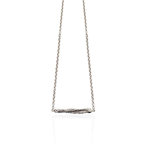 Niza Huang- Illusion - Short stick necklace - Silver